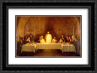 The Last Supper 24x18 Black or Gold Ornate Framed and Double Matted Art Print by Pascal Adophe Jean Dagnan Bouveret