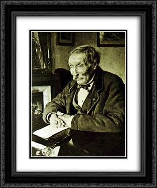 Portrait of Dagnan'Bouveret's Grandfather 20x24 Black or Gold Ornate Framed and Double Matted Art Print by Pascal Adophe Jean Dagnan Bouveret
