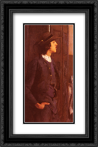 A Young Breton Man 16x24 Black or Gold Ornate Framed and Double Matted Art Print by Pascal Adophe Jean Dagnan Bouveret