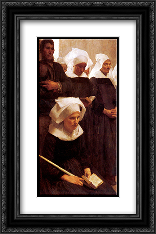 Bretons Praying 16x24 Black or Gold Ornate Framed and Double Matted Art Print by Pascal Adophe Jean Dagnan Bouveret