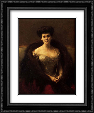 Portrait of Princess O. V. Paley 20x24 Black or Gold Ornate Framed and Double Matted Art Print by Pascal Adophe Jean Dagnan Bouveret