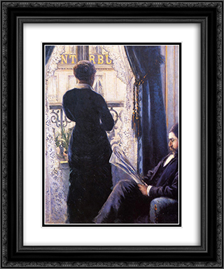 Interior 20x24 Black or Gold Ornate Framed and Double Matted Art Print by Gustave Caillebotte