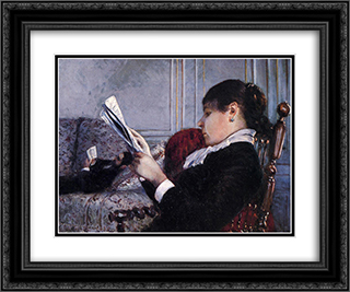 Interior 24x20 Black or Gold Ornate Framed and Double Matted Art Print by Gustave Caillebotte