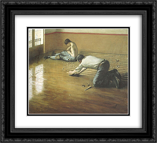 The Floor Scrapers 22x20 Black or Gold Ornate Framed and Double Matted Art Print by Gustave Caillebotte