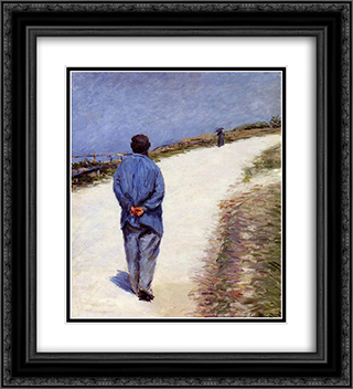 Man in a Smock 20x22 Black or Gold Ornate Framed and Double Matted Art Print by Gustave Caillebotte