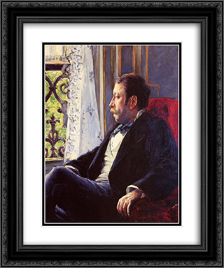 Portrait of a Man 20x24 Black or Gold Ornate Framed and Double Matted Art Print by Gustave Caillebotte