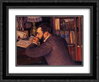 Portrait of Henri Cordier 24x20 Black or Gold Ornate Framed and Double Matted Art Print by Gustave Caillebotte