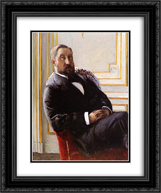 Portrait of Jules Richemont 20x24 Black or Gold Ornate Framed and Double Matted Art Print by Gustave Caillebotte