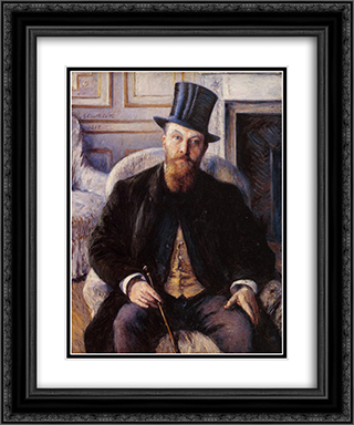 Portrait of Jules Dubois 20x24 Black or Gold Ornate Framed and Double Matted Art Print by Gustave Caillebotte