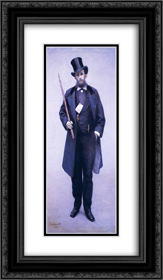 Portrait of Paul Hugot 14x24 Black or Gold Ornate Framed and Double Matted Art Print by Gustave Caillebotte