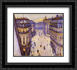 Rue Halevy, Seen from the Sixth Floor 22x20 Black or Gold Ornate Framed and Double Matted Art Print by Gustave Caillebotte