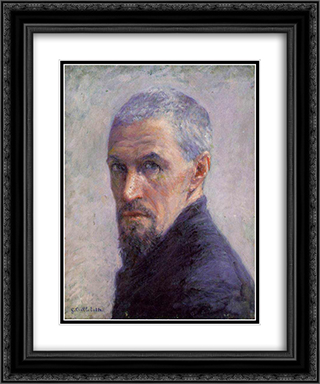 Self Portrait 20x24 Black or Gold Ornate Framed and Double Matted Art Print by Gustave Caillebotte