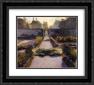 The Kitchen Garden, Yerres 22x20 Black or Gold Ornate Framed and Double Matted Art Print by Gustave Caillebotte