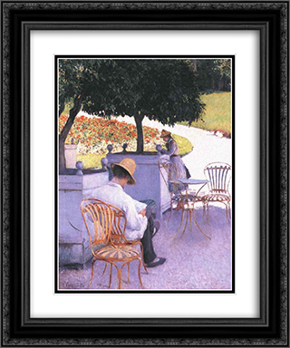 The Orange Trees 20x24 Black or Gold Ornate Framed and Double Matted Art Print by Gustave Caillebotte