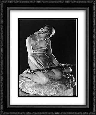 Maddalena Penitente 20x24 Black or Gold Ornate Framed and Double Matted Art Print by Antonio Canova