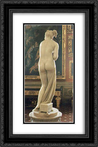Venus Italica [detail: behind] 16x24 Black or Gold Ornate Framed and Double Matted Art Print by Antonio Canova