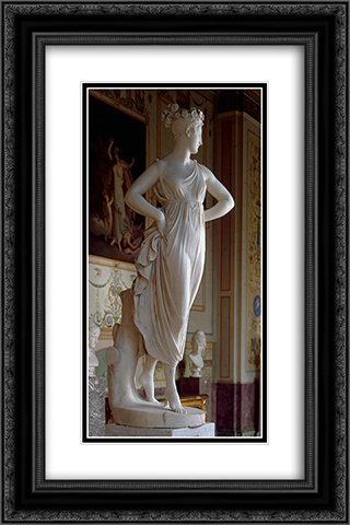 Dancer 16x24 Black or Gold Ornate Framed and Double Matted Art Print by Antonio Canova