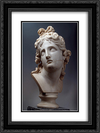 The Genius of Death 18x24 Black or Gold Ornate Framed and Double Matted Art Print by Antonio Canova
