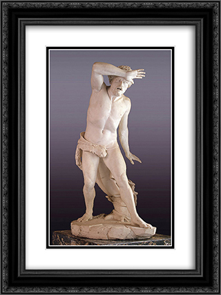 Cain 18x24 Black or Gold Ornate Framed and Double Matted Art Print by Antonio Canova