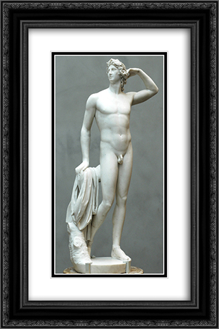Apollo crowning himself 16x24 Black or Gold Ornate Framed and Double Matted Art Print by Antonio Canova