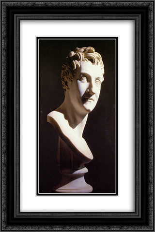 Portrait of Leopoldo Cicognara 16x24 Black or Gold Ornate Framed and Double Matted Art Print by Antonio Canova