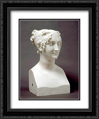 Sappho 20x24 Black or Gold Ornate Framed and Double Matted Art Print by Antonio Canova