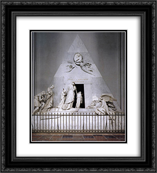 Tomb of Duchess Maria Christina of Saxony'Teschen 20x22 Black or Gold Ornate Framed and Double Matted Art Print by Antonio Canova