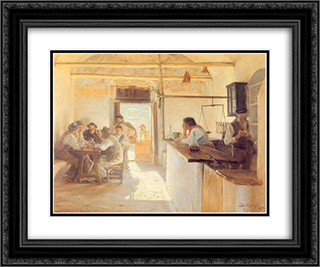 Taberna en Ravello 24x20 Black or Gold Ornate Framed and Double Matted Art Print by Peder Severin Kroyer