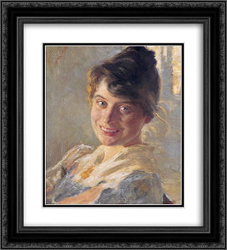 Marie Kroyer 20x22 Black or Gold Ornate Framed and Double Matted Art Print by Peder Severin Kroyer