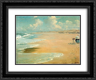 Stenbjerg 24x20 Black or Gold Ornate Framed and Double Matted Art Print by Peder Severin Kroyer