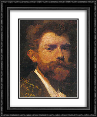 Autorretrato 20x24 Black or Gold Ornate Framed and Double Matted Art Print by Peder Severin Kroyer