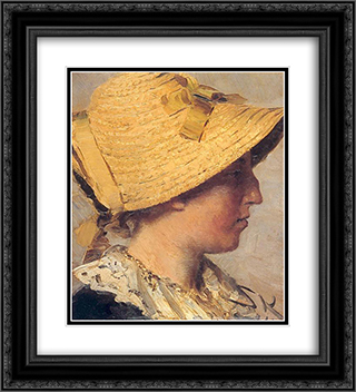 Anna Ancher 20x22 Black or Gold Ornate Framed and Double Matted Art Print by Peder Severin Kroyer