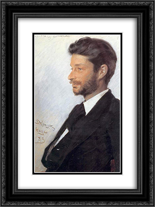 Georg Brandes 18x24 Black or Gold Ornate Framed and Double Matted Art Print by Peder Severin Kroyer