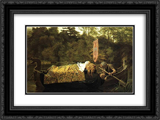 Elaine 24x18 Black or Gold Ornate Framed and Double Matted Art Print by Sophie Gengembre Anderson