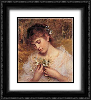 Love In a Mist 20x22 Black or Gold Ornate Framed and Double Matted Art Print by Sophie Gengembre Anderson