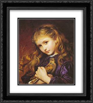 The Turtle Dove 20x22 Black or Gold Ornate Framed and Double Matted Art Print by Sophie Gengembre Anderson