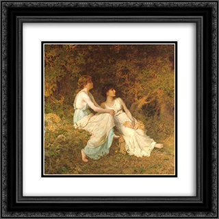 Birdsong 20x20 Black or Gold Ornate Framed and Double Matted Art Print by Sophie Gengembre Anderson