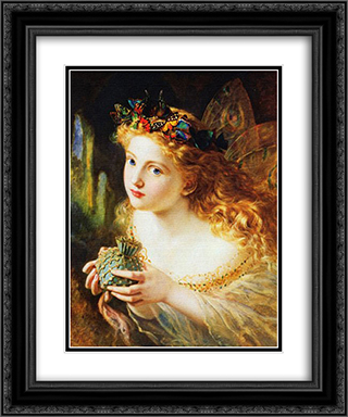 Take the Fair Face of Woman 20x24 Black or Gold Ornate Framed and Double Matted Art Print by Sophie Gengembre Anderson