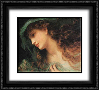 The Head of a Nymph 22x20 Black or Gold Ornate Framed and Double Matted Art Print by Sophie Gengembre Anderson