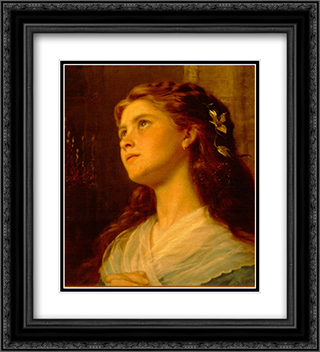 Portrait of a Young Girl 20x22 Black or Gold Ornate Framed and Double Matted Art Print by Sophie Gengembre Anderson