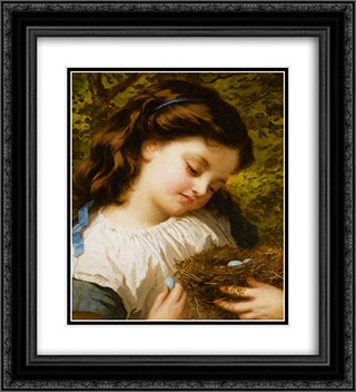 The Brids Nest 20x22 Black or Gold Ornate Framed and Double Matted Art Print by Sophie Gengembre Anderson