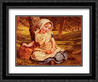 Windfalls 24x20 Black or Gold Ornate Framed and Double Matted Art Print by Sophie Gengembre Anderson