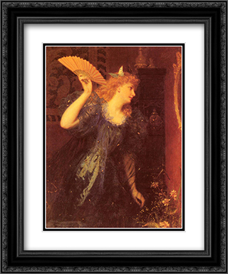 Ready For The Ball 20x24 Black or Gold Ornate Framed and Double Matted Art Print by Sophie Gengembre Anderson