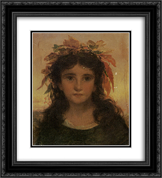 Autumn 20x22 Black or Gold Ornate Framed and Double Matted Art Print by Sophie Gengembre Anderson