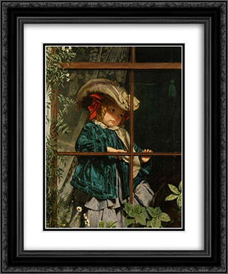 No Walk Today 20x24 Black or Gold Ornate Framed and Double Matted Art Print by Sophie Gengembre Anderson
