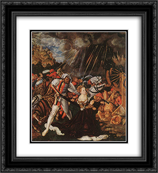 The Martyrdom of St Catherine 20x22 Black or Gold Ornate Framed and Double Matted Art Print by Lucas Cranach the Elder