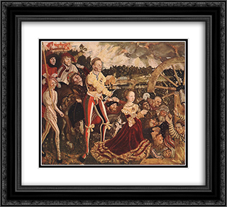 The Martyrdom of St Catherine 22x20 Black or Gold Ornate Framed and Double Matted Art Print by Lucas Cranach the Elder