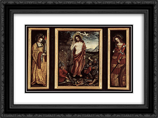 Housealtar of Count William II of Hessen 24x18 Black or Gold Ornate Framed and Double Matted Art Print by Lucas Cranach the Elder