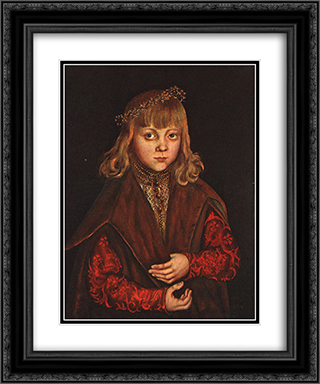 A Prince of Saxony 20x24 Black or Gold Ornate Framed and Double Matted Art Print by Lucas Cranach the Elder