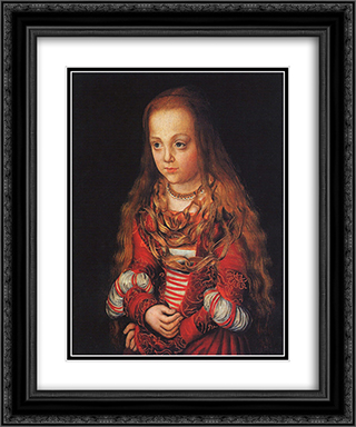 A Princess of Saxony 20x24 Black or Gold Ornate Framed and Double Matted Art Print by Lucas Cranach the Elder